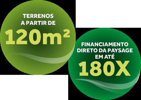 Terrenos a partir de 120m² e financiamento direto com a Paysage em até 180x.